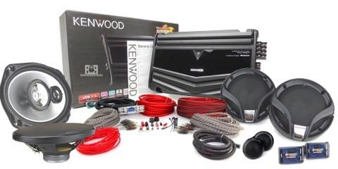 KENWOOD car audio system package 4 in 1