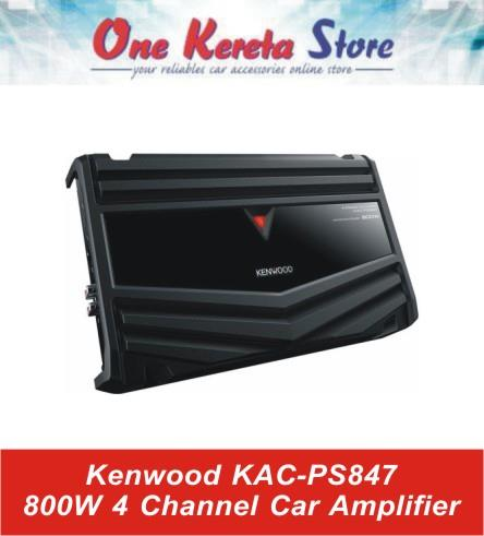 Kenwood KAC PS847 800W 4 Channel Car Amplifier Original