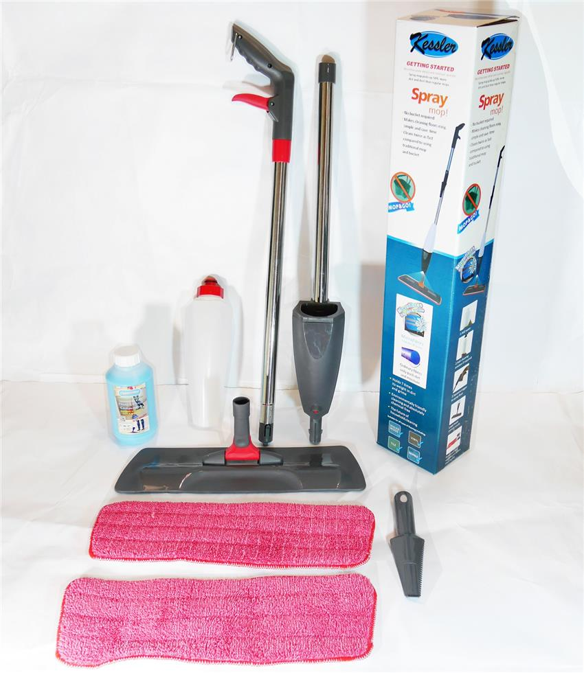 Kessler Spray Mop c/w Microfiber Pads (Attract & hold Hairs & Dirts)