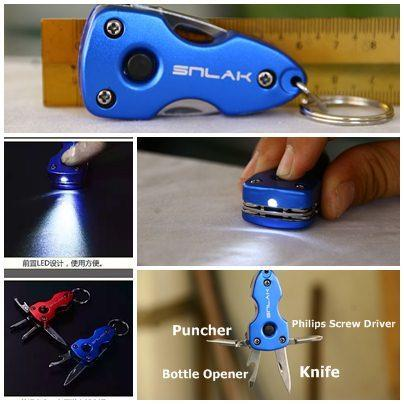 Key Chain Multitool with LED