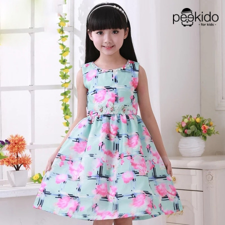 Kids Age 1  – 8  ¬ Unique Flower Design Dress ~ Pre-Order