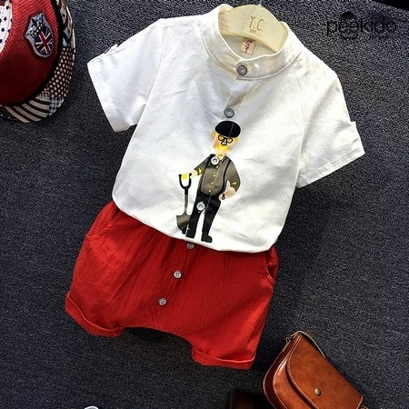 Kids Age 1  – 8 ~ Button Up Tee  & Pants ~ Pre-Order