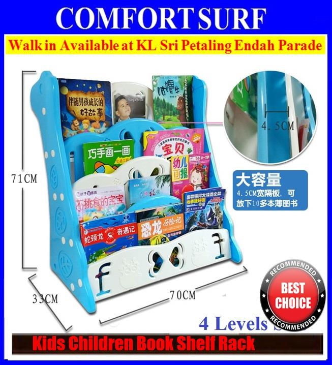 Kids Children BookShelf Book Shelf Rack 5/4 Tiers ReadyStock Bookcases
