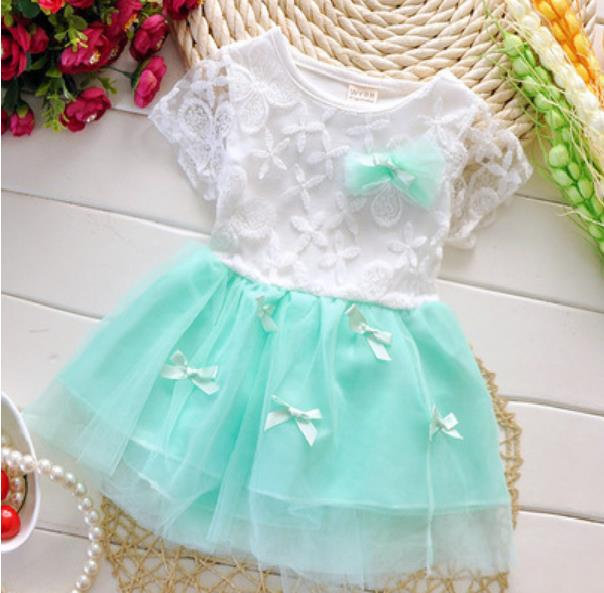 Kids Dress - Green Skirt