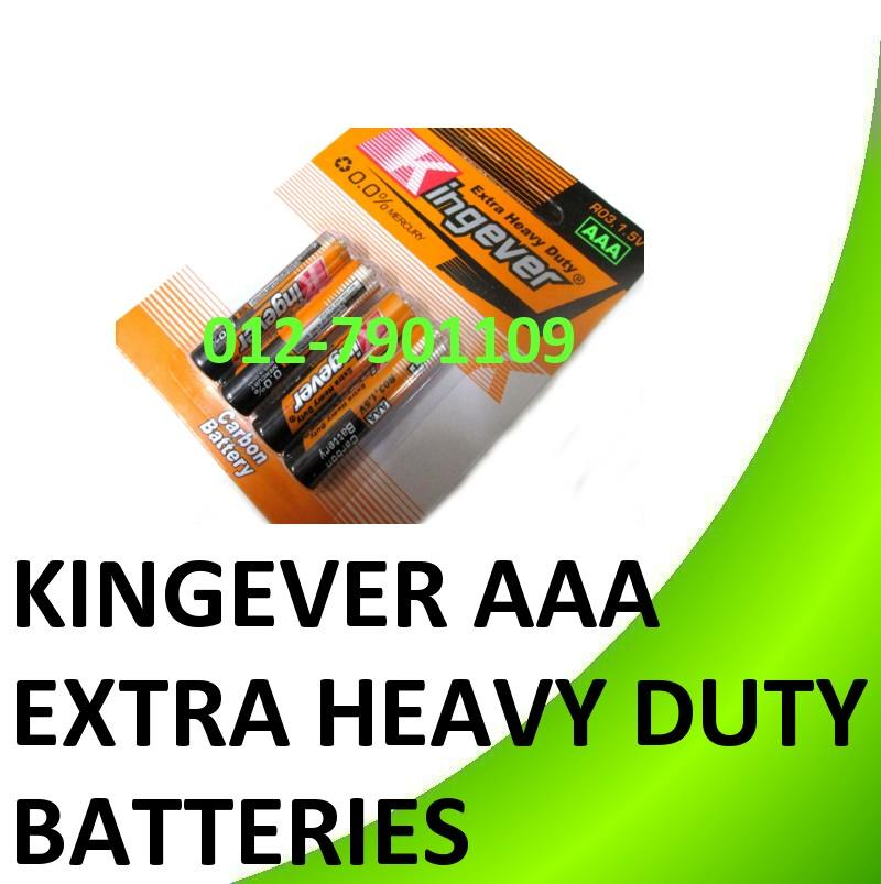 Kingever Extra Heavy Duty AAA Carbon Battery Batteries