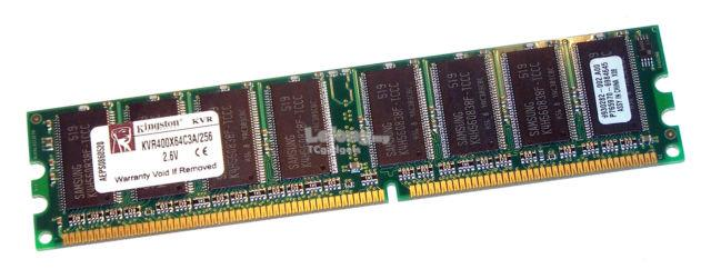KINGSTON 256MB DDR1 400MHz PC3200 184-PIN DIMM