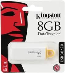 KINGSTON DTIG4 USB3.0 8GB USB Flash Drive- Yellow