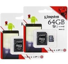 KINGSTON MICROSD TF CARD CL10 80MBS WITH ADAPTER 64GB