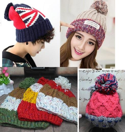 Knitted Winter Beanie -Variety Designs-C1617C1618C1619C1620