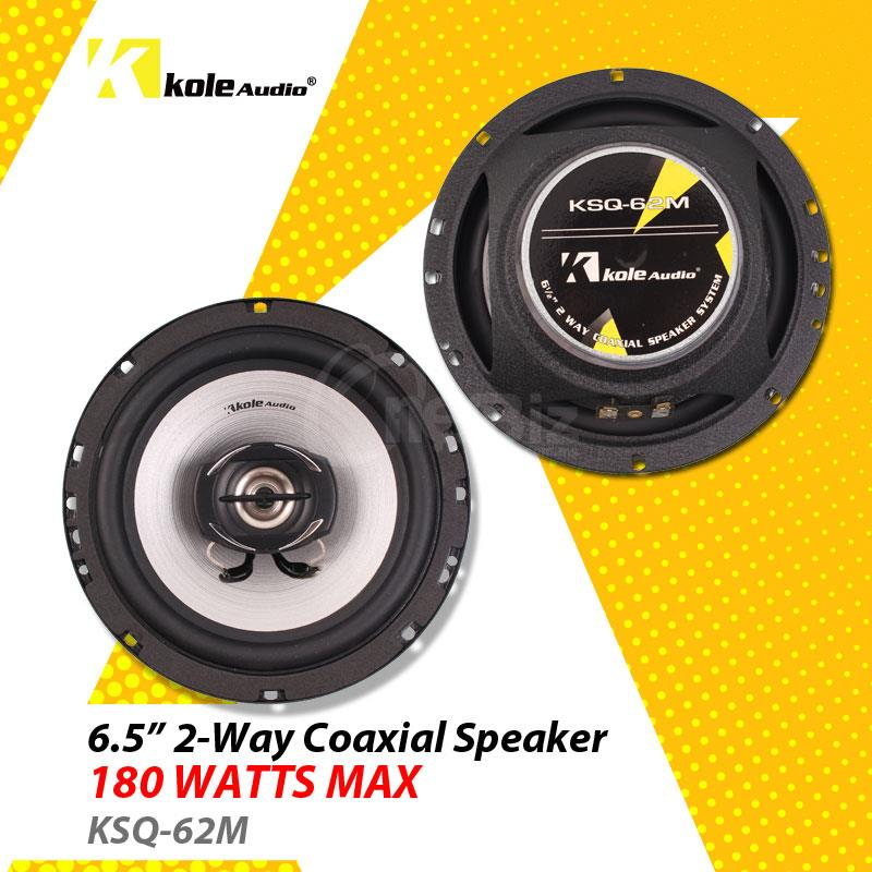 Kole Audio 6.5' 2-Way Coaxial Speaker 180W - KSQ-62M