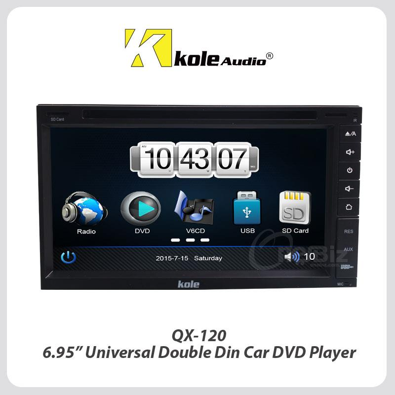 Kole Audio 6.95 Inch Universal Double Din Player - QX-120