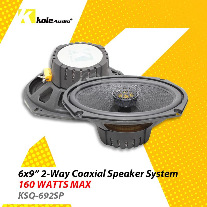 Kole Audio 6' X 9' 2-Way Coaxial Speaker System 160W - KSQ-692SP