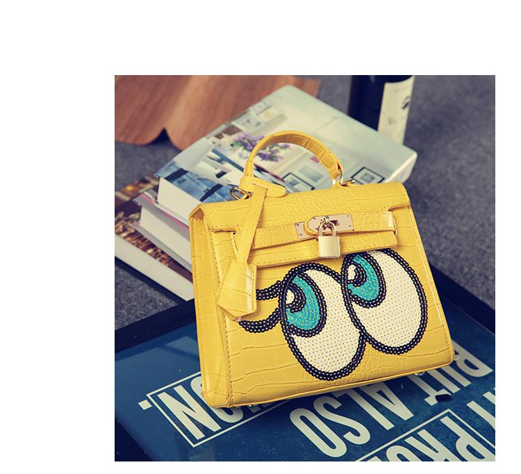 Korea Brand Play No More Big Eyes Shoulder HandBag