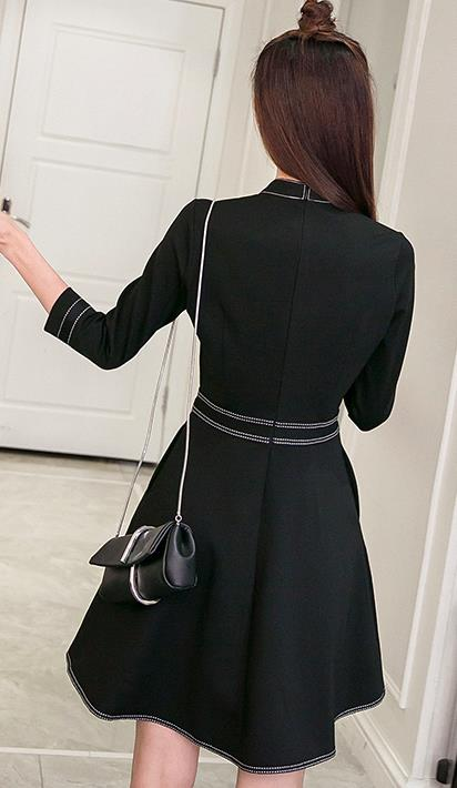 Korea Charming Dress Black