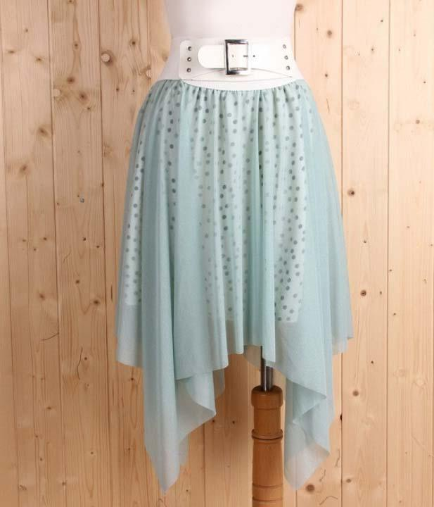 Korea Fashion~Elegant Irregular Skirt (Bean Green)