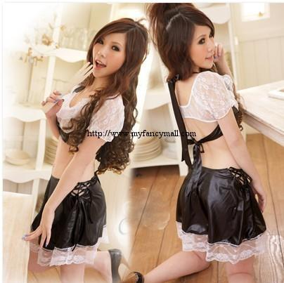 Korea Japan Sexy Roll Play Valentina Evening Wear Lingerie ECOPELLE 38..