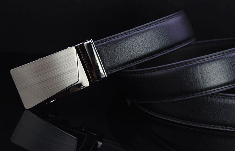 Korea Korean Men Automatic Buckle Belt Genuine Leather 3