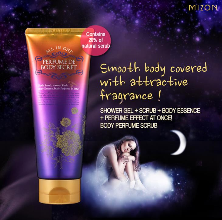 Korea Mizon Perfume de Body Secret- All In One Body Scrub 200ml