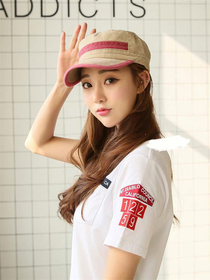 Korea Style Jean Mix Colour Couple Fashion Cap
