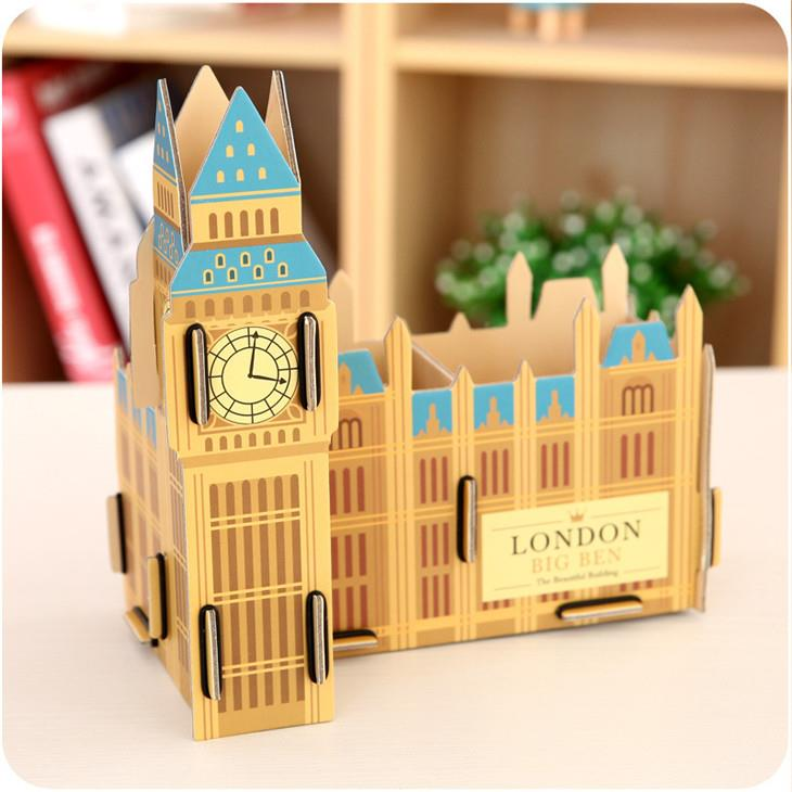 Korean Creative DIY Paper Material Storage Box (Big Ben)