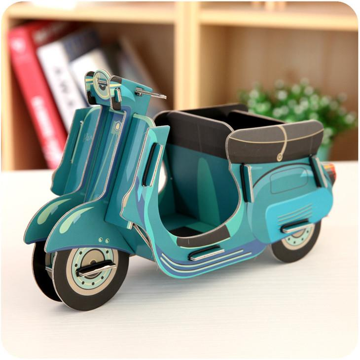 Korean Creative DIY Paper Material Storage Box (Motorcycle)