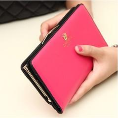 NEW KOREAN FASHION LONG SECTION LEATHER BUCKLE LADIES WALLET FOR SALES
