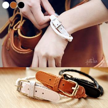 Korean~Handmade Leather Cord Bracelet