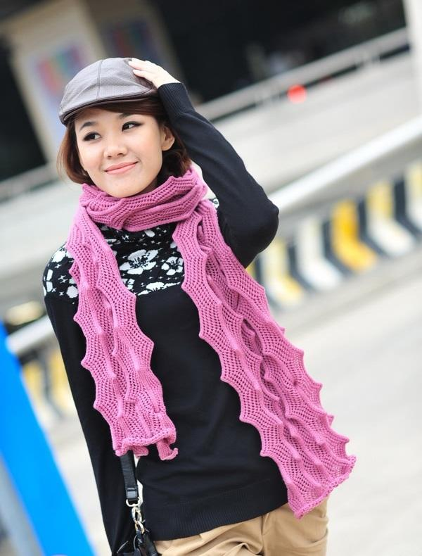 Korean Knitting Tactile Hollow Sexy Scarf