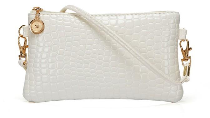 Korean Leather Casual Sling Bag GPSP-364 WHITE