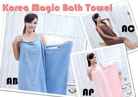 korean magic bath towel
