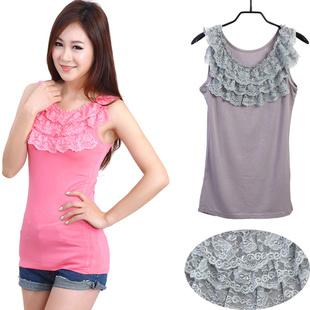 New~Korean Modal 3 Layer Lace Vest