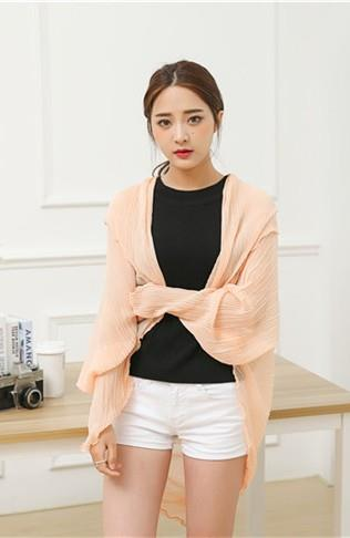 Korean Style Pleated Chiffon Anti-UV Scarf (Few Ways to Wear)