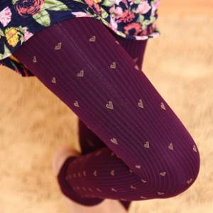 New Korean Thick Stripe Heart Stirrup Leggings