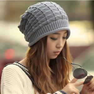 Korean Triangle Pattern Knitting Wool Hat