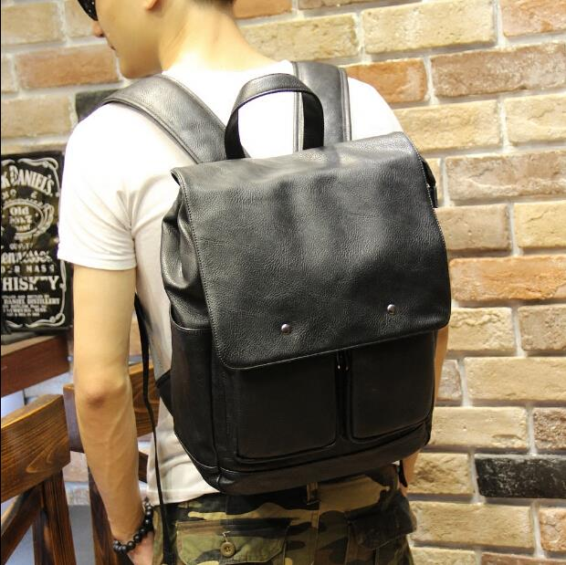 Korean version fashion trend of male casual large-capacity backpack