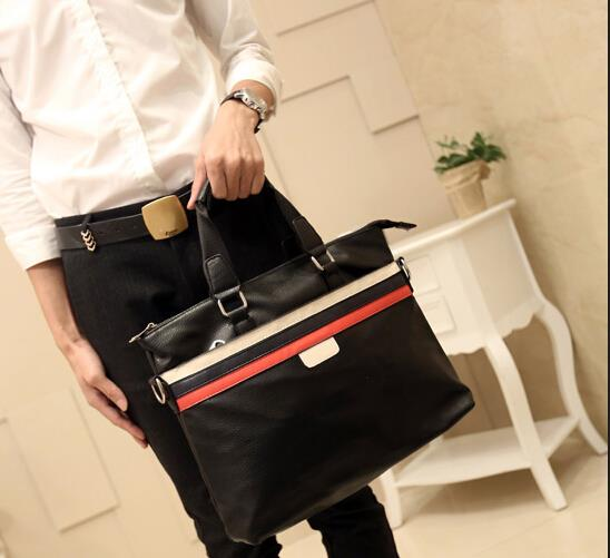 The new Korean version of the male business casual messenger briefcase