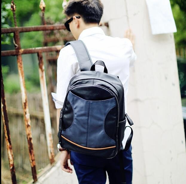 Korean version male fashion trend leisure travel backpack