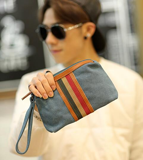 New Korean version of men leisure canvas small bag