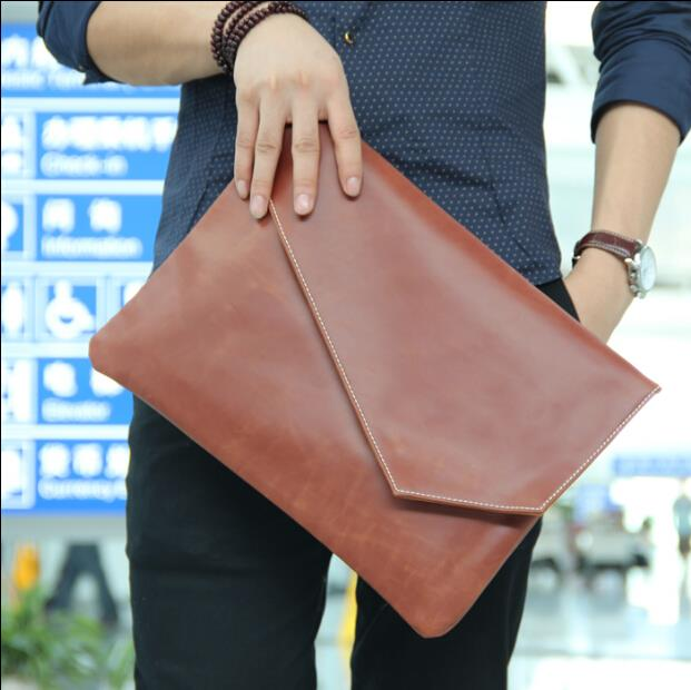 Korean version of pure color retro fashion envelope bag