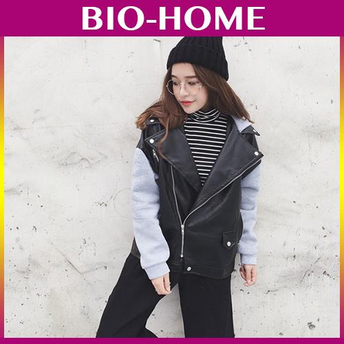 KOREAN WOMAN FASHION VINTAGE JACKET ZIP WINTER LONG SLEEVE LEATHER