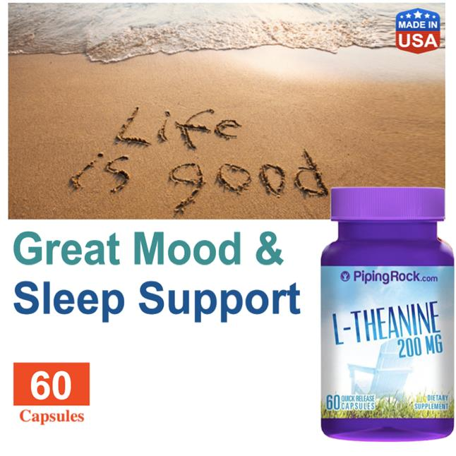 L-Theanine 200mg 60 Capsules, (Relax, Mood, Anxiety, Depression)