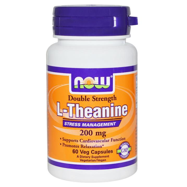 L-Theanine 200mg 60Vcap + Inositol, Relax, 100% Vegetarian (USA)
