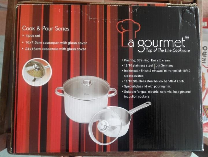 LA GOURMET 4PCS SET COOK & POUR SERIES - STOCK CLEARANCE