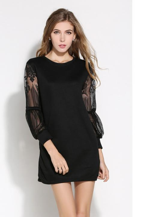 Lacey-Sleeves Dress (Code:E6109)