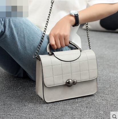 Ladies handbag small square bag Messenger bag Lingge shoulder bag