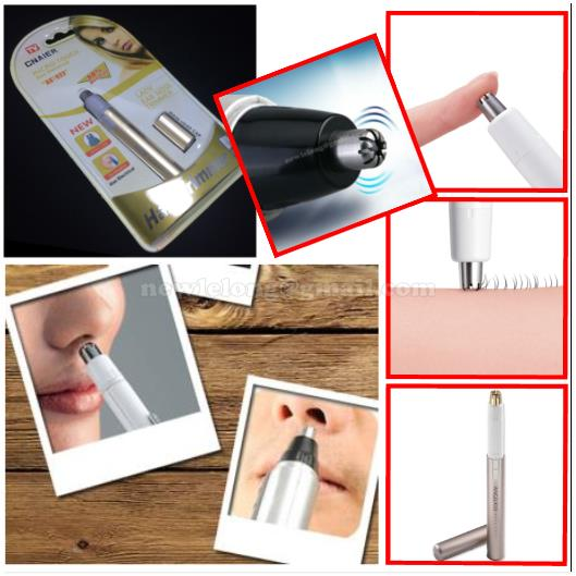Lady Nose Ear Eyebrow Eyelash Hair Trimmer Shaver Touch Max Travel Mat