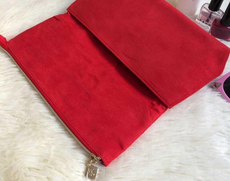 LANCOME RED KNITTED COSMETIC GIFT POUCH CASE