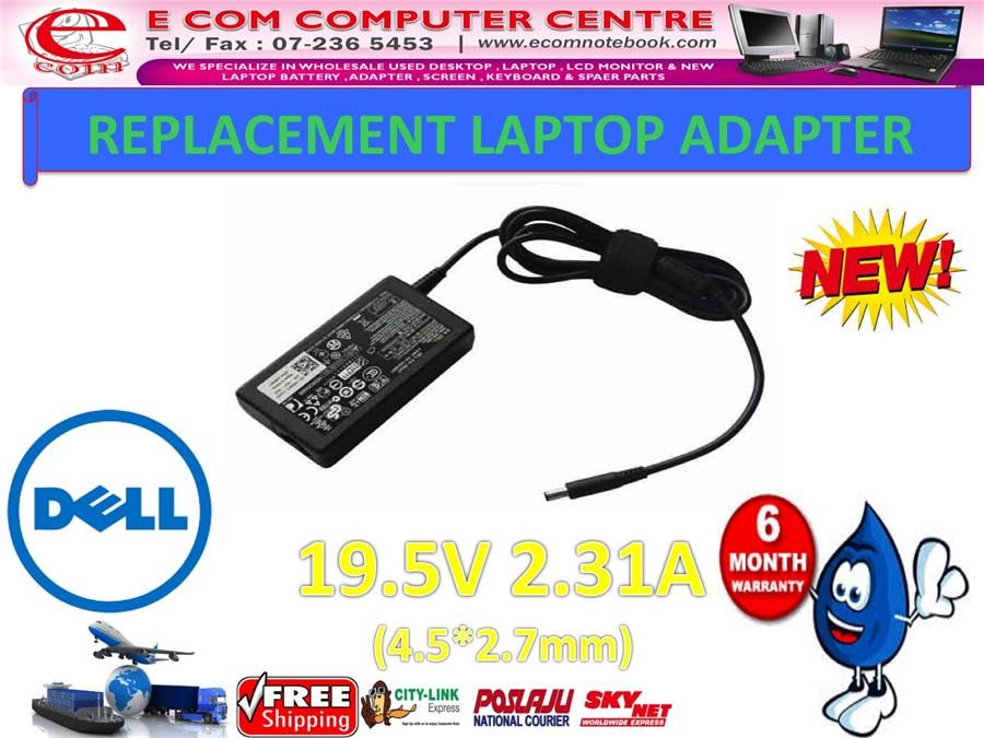LAPTOP ADAPTER FOR DELL SERIES 19.5V 2.31A (4.5MM*2.7MM)