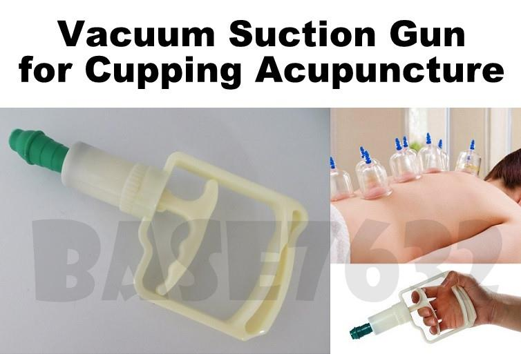 Large  Cupping Vacuum Suction Pump Gun Handle for Acupuncture Therapy