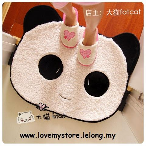 Large Panda Soft Plush Decorative Mat Ready Stock